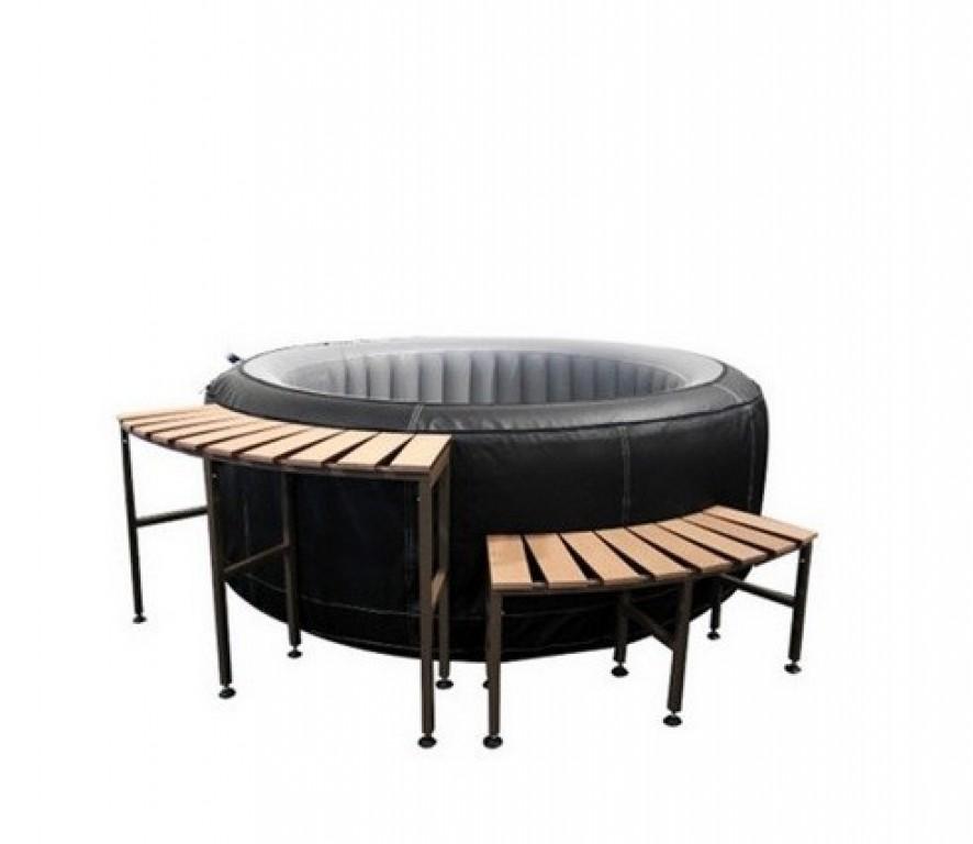 mobilier de spa gonflable 2 marches. Black Bedroom Furniture Sets. Home Design Ideas