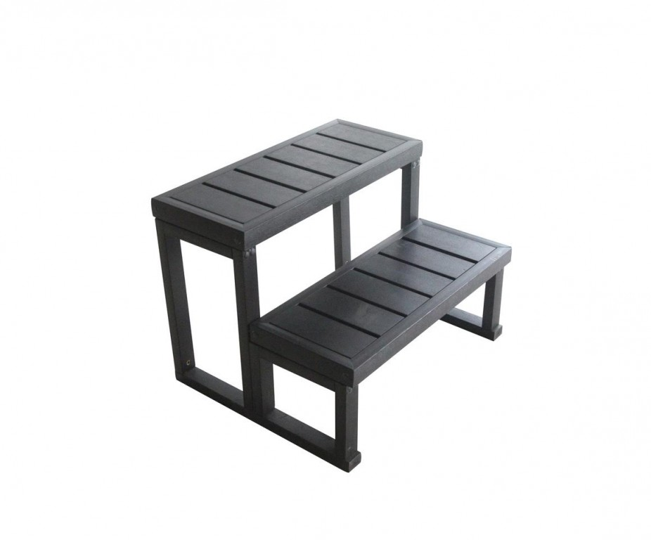 escalier 2 marches composite aluminium. Black Bedroom Furniture Sets. Home Design Ideas